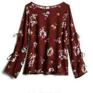 Kaileigh Floral Cold Shoulder Blouse
